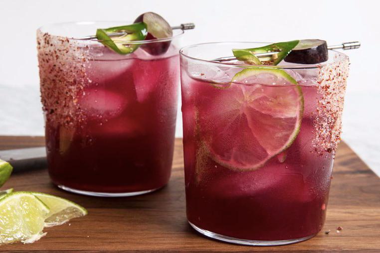 black grape and Chili Margarita recipe