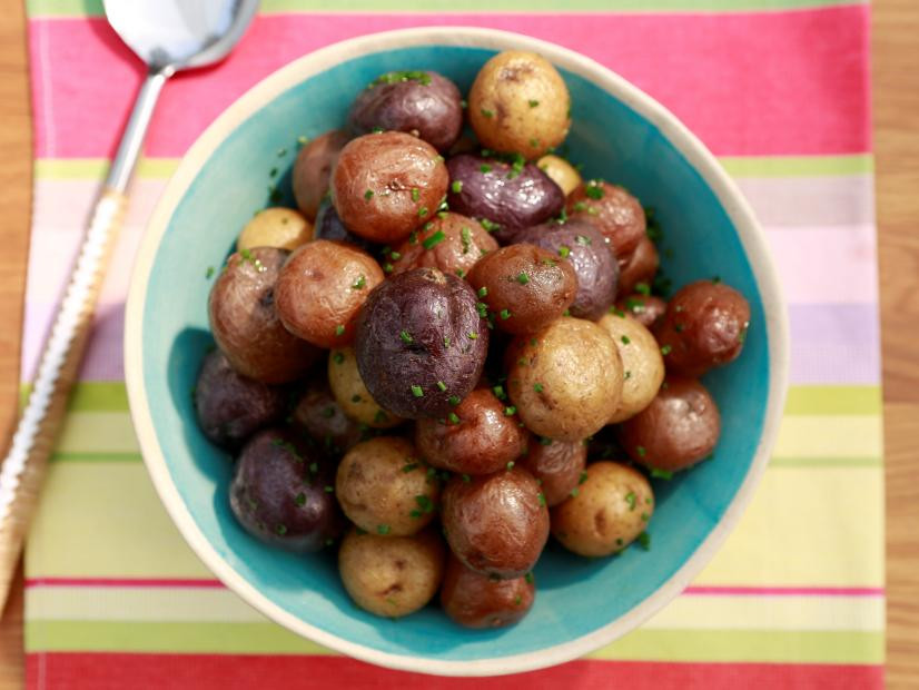 Salt Potatoes with Butter and Chives