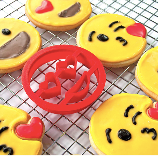 3-Pack Funny Emoji Cookie Cutters | Pile of Poop, Tongue Face, Thumbs Up