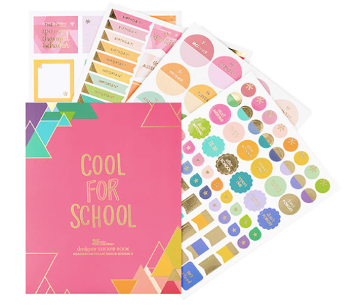 Erin Condren Designer Sticker Book - Too Cool for School, Edition 3 (765 Stickers)