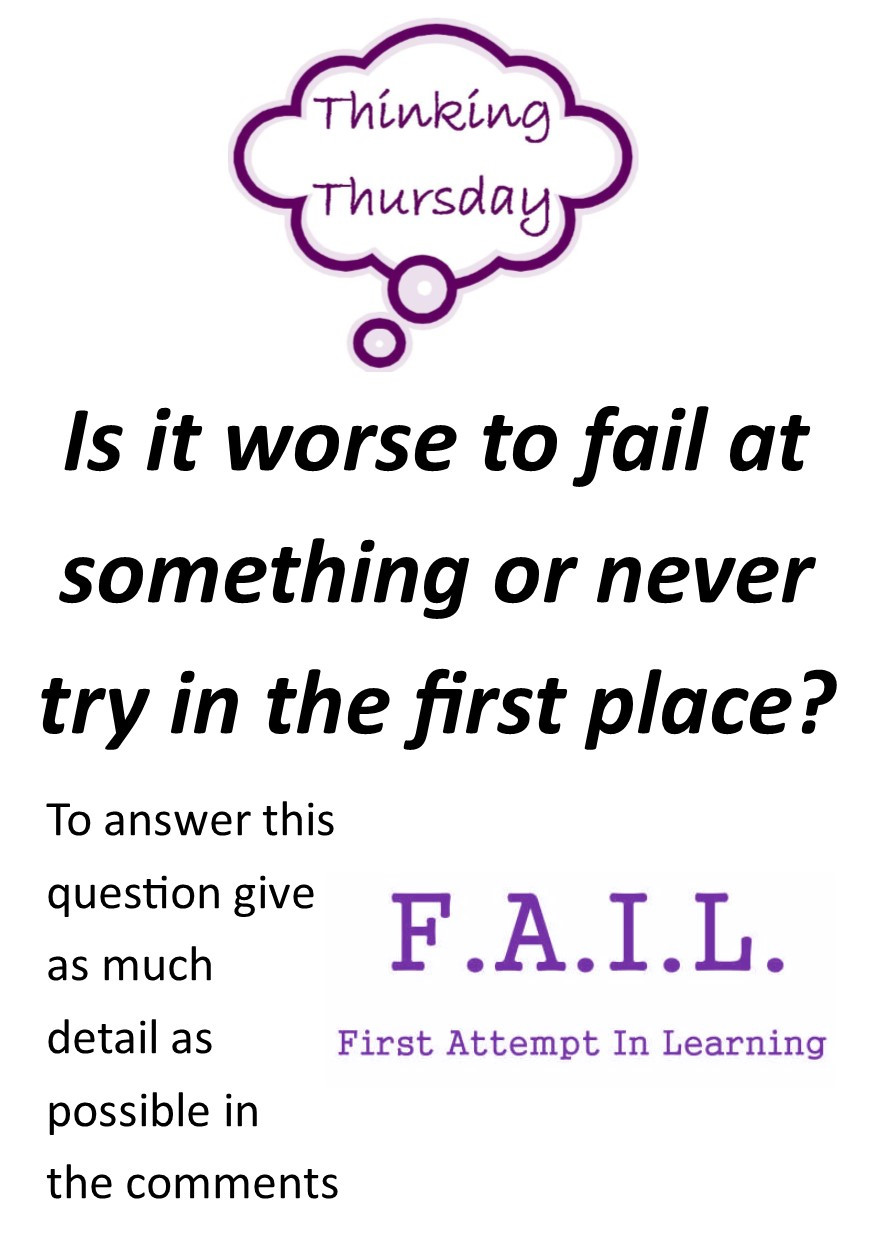 Is it worse to fail at something or never try in the first place? - practice your English by joining in the discussion!1