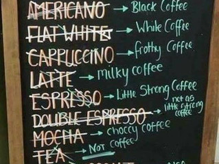 Coffee translated :) What's your favourite? What would you order? Practice in the comments below