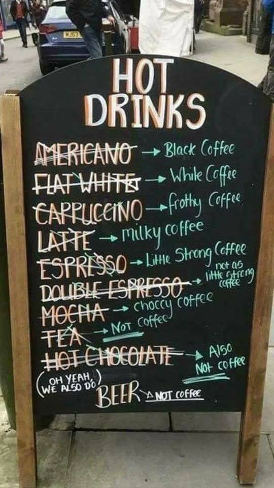 Coffee translated :) What's your favourite? What would you order? Practice in the comments below. More English practice available at https://www.kirstytutors.co.uk/blog