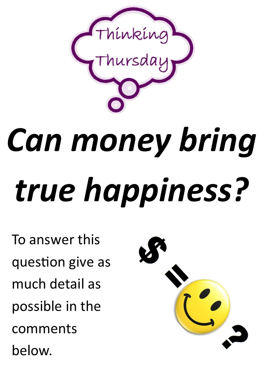 Practice your English by answering the following question - Can money bring you true happiness?