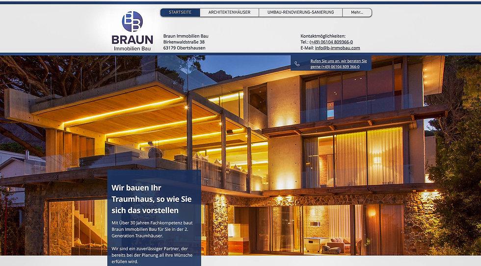 Braun Immobilien Bau Webseite erstellt v