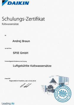 Andrej Braun Zertifikat Luftgekühlte Ka