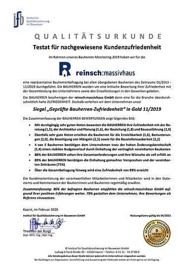 reinsch massivhaus 100-192065 - Testat (