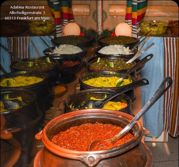 Adabina Büffet, äthiopisches Essen