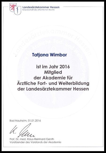 Auszeichnung Mitglied der Akademie Hessen