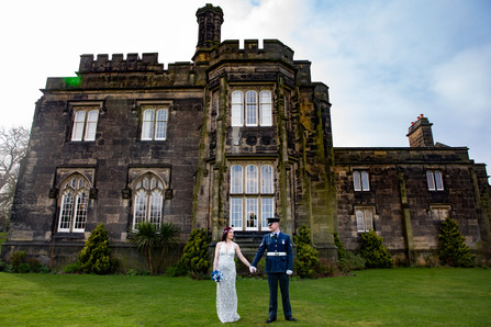 Castle Bride and Groom