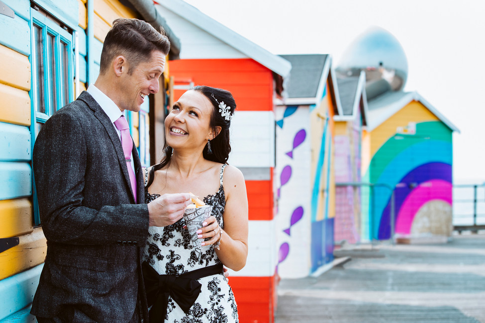Bride and Groom Beach Hut