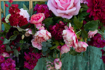 Rose and Peony Floral Installation