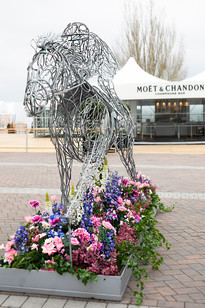 Horse Racing Floral Installation