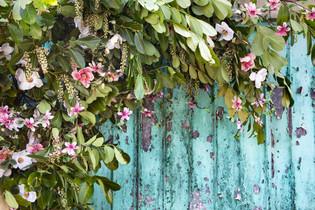 Magnolia Garage Floral Installation
