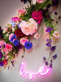 Bedroom Floral Installation