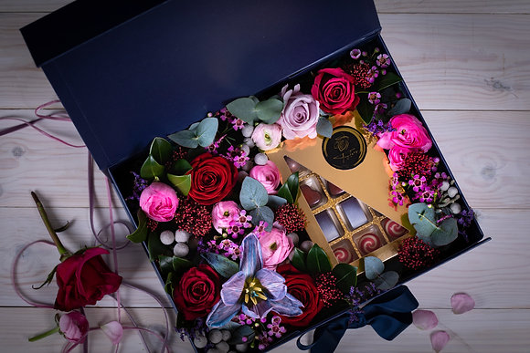 Luxury Floral Choc Box