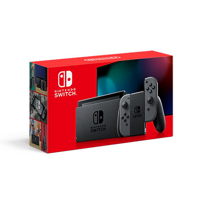 Nintendo Switch with Gray Joy‑Controllers