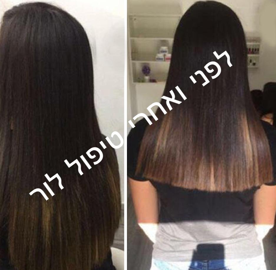תמונות לפני ואחרי שיקום שיער