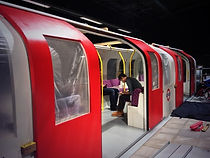 Mock tube train in lab