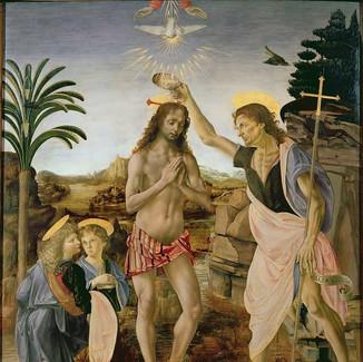ヴェロッキオとレオナルドが描いた『キリストの洗礼』