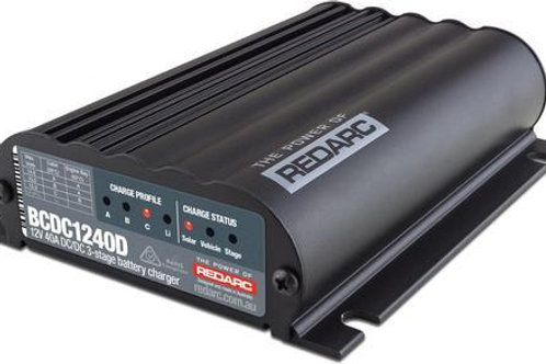 Redarc BCDC1240D Smart Charger 40A (Solar Input & Lithium)