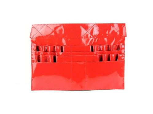 Red Patent Leather Brush Belt