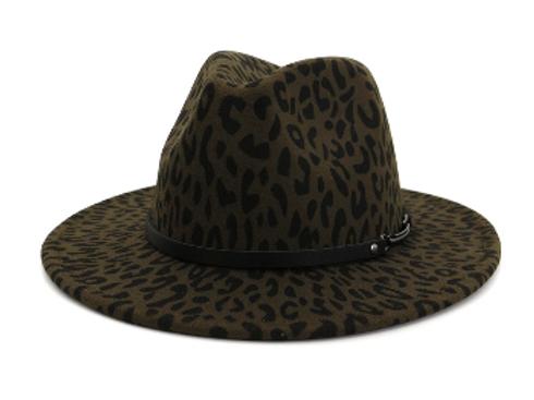 Stylish Leopard Army Green
