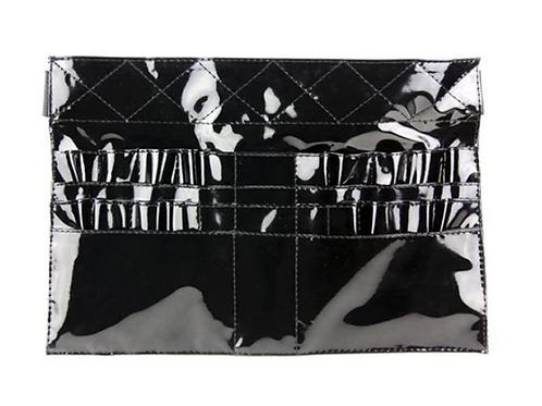 Black Patent Leather Brush Belt