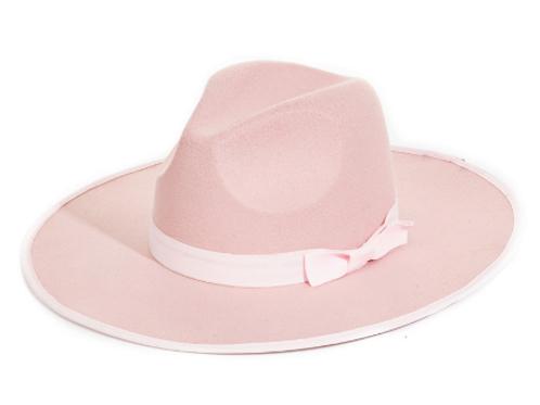 Flat Brim Pink Fedora