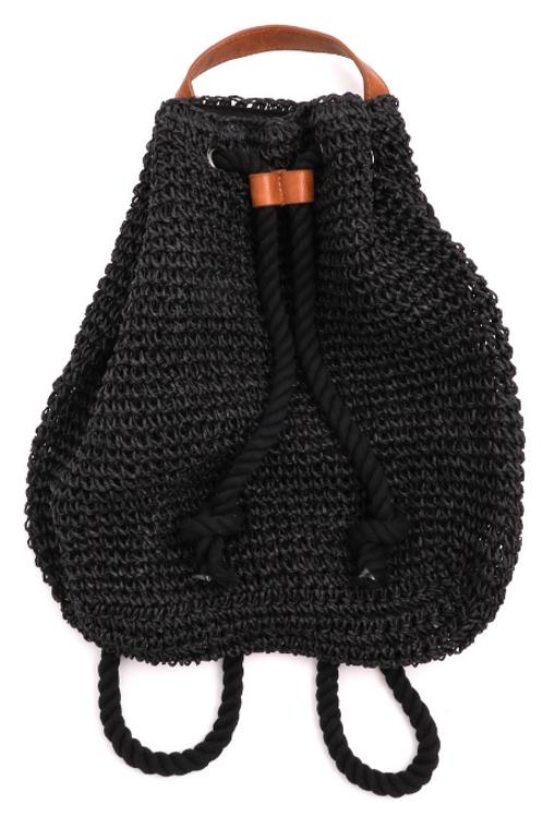 Straw Beach Drawstring Backpack