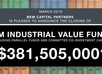 BKM Industrial Value Fund II Closes $381.5 Million