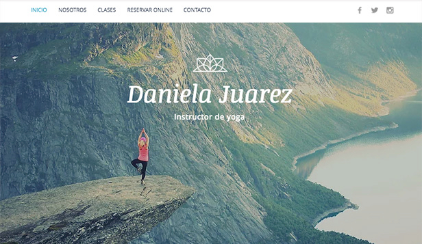 Ver todas las plantillas plantillas web – Instructor de Yoga