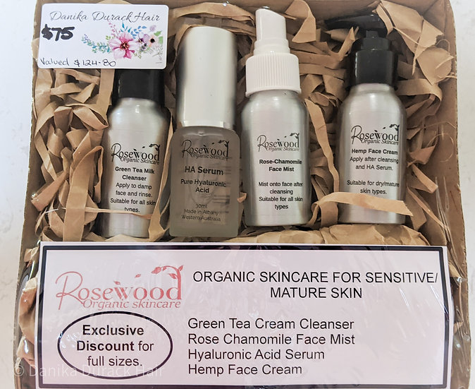 Christmas Rosewood organic skincare pack