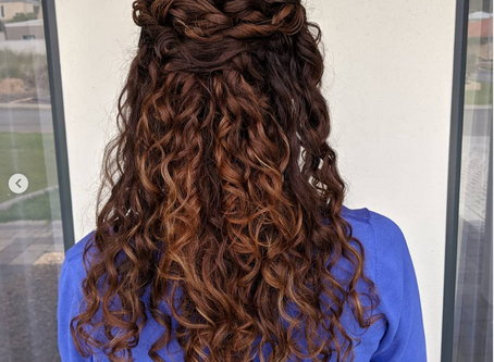 Natural curly bridal hair