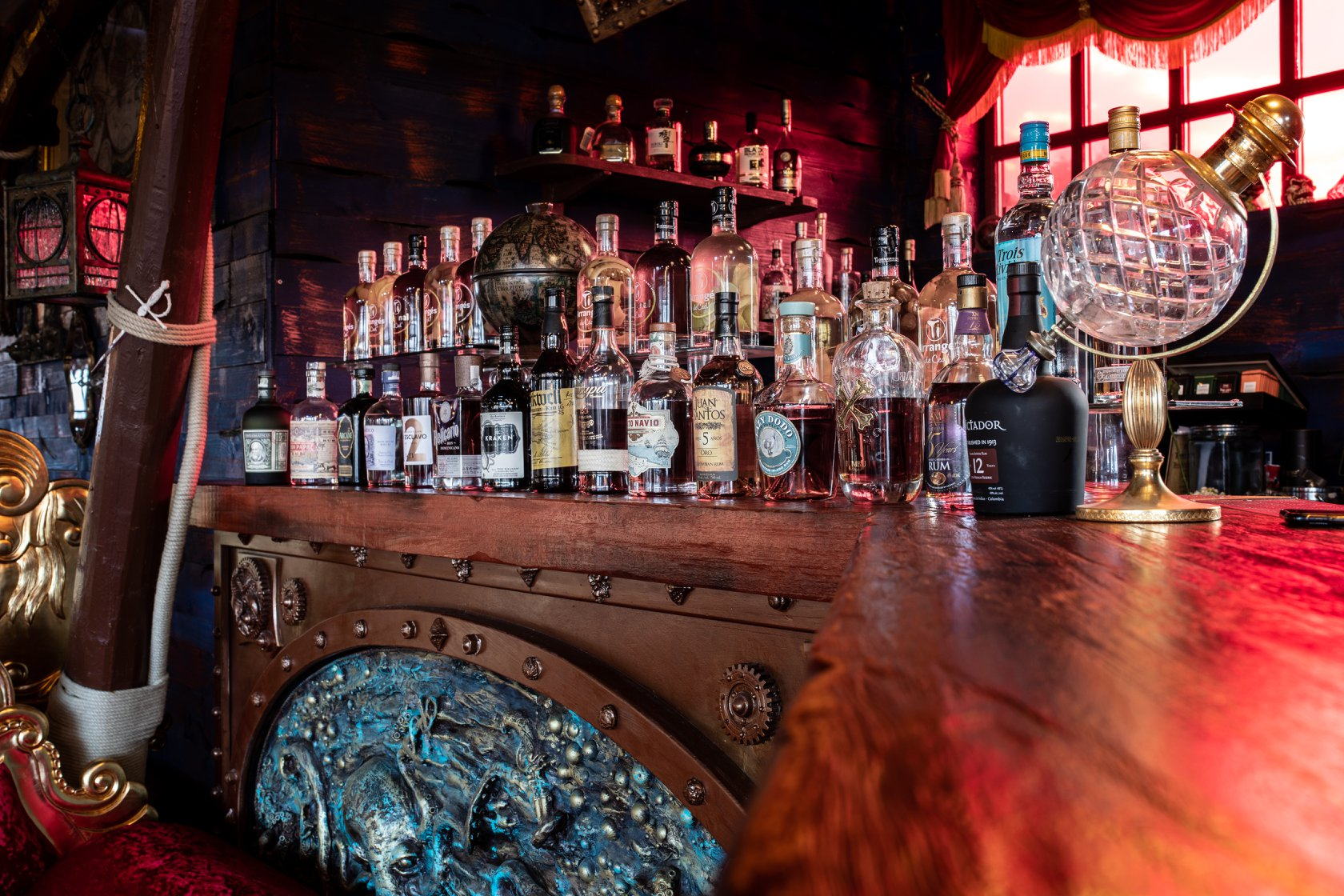 rhums au Lounge Bar le Poséidon