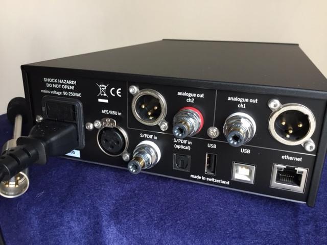 Rear panel Weiss DAC501