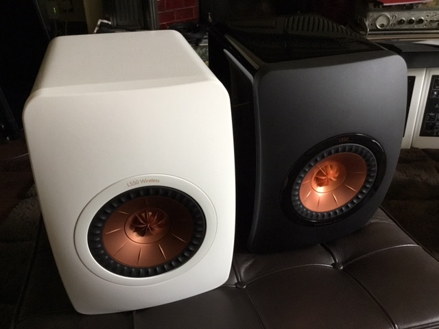 KEF LS 50's passive and active