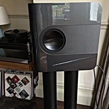 Purité Audio's Kii THREE loudspeakers in mineral grey metallic