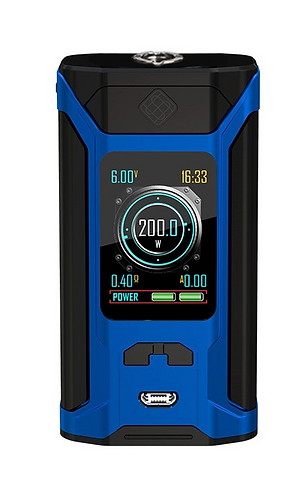 MOD ONLY WISMEC SINUOUS RAVAGE 230 IN BLUE