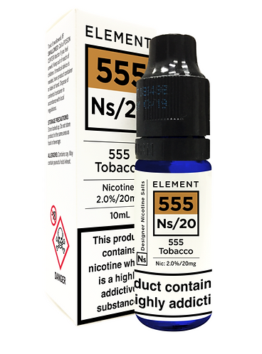 ELEMENT SALT 555 TOBACCO 20MG 10ML
