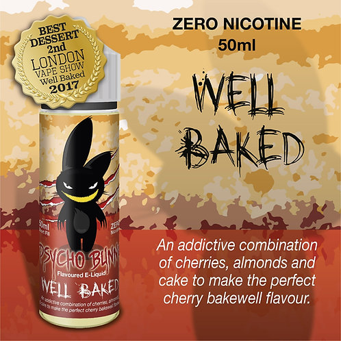 WELL BAKED BY PSYCHO BUNNY 60ML INC SHOT
