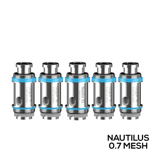 NAUTILUS XS COIL 0.7 OHM MESH