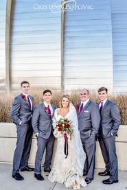 Wedding reception at the Timber Barn, Weston, MO