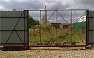 Рама откатных ворот без обшивки