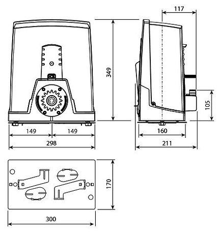 Автоматика для откатных / сдвижных ворот CAME BXV