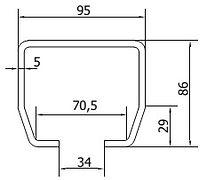 Размеры направляющей балки CAME M (до 700кг)