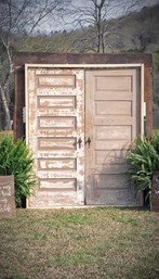 rustic double doors