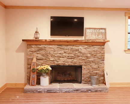 upstairs bridal fireplace