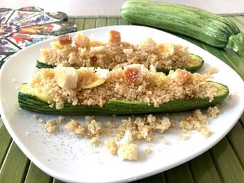 Barchette di zucchine al cous cous
