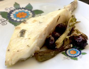 Pesce san Pietro al forno con carciofi